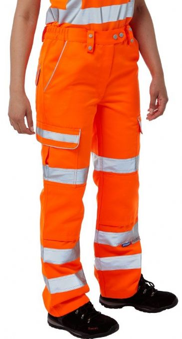 Pulsar PR336LDS Class 2 Ladies Rail Spec Combat Trouser (High Vis Orange)